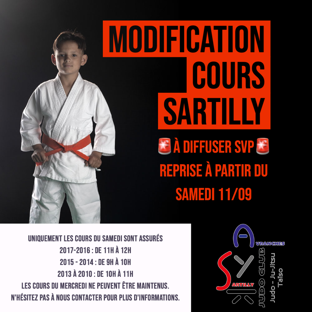 Modification cours Sartilly